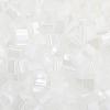 Miyuki Tila Bead 5X5mm 2 Hole White Opaque Luster